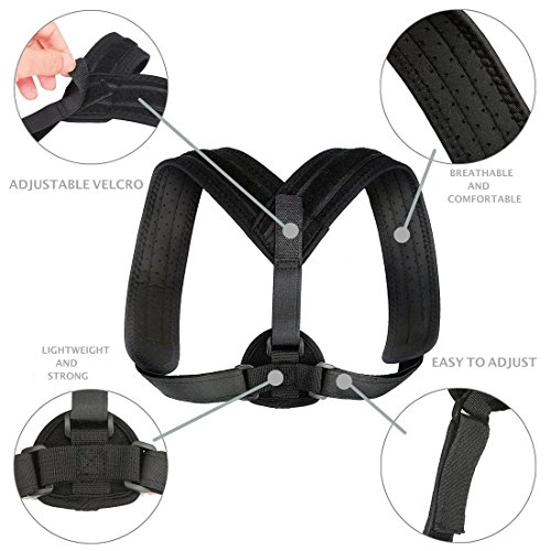 Posture Corrector for Women & Men – Comfortable and Effective Back Brace against Slouching & Hunching - Subtle Design – Clavicle Support For Medical Problems & Injury Rehab by Scandic Gear (Image #4)
