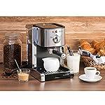 Klarstein-Passionata-Rossa-15-SS-Macchina-per-espresso-15-Bar-Espresso-Caff-Potenza-1470-Watt-125-litri-6-tazze-Rilascio-automatico-della-pressione-Ugello-rimovibile-Argento