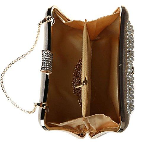 SSMK Evening Bag - Cartera de mano para mujer morado oscuro