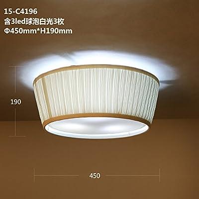 ANGEELEE Étude américaine d'éclairage innovantes tissus chinois moderne nouvelle Chine vent salon chambre à coucher Mobilier plafonnier rond