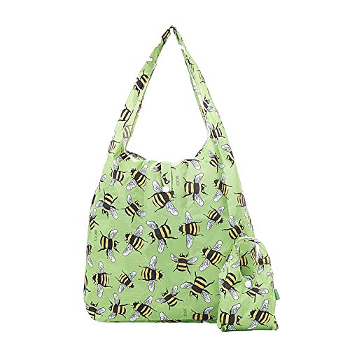15kg bee CHIC ECO max shopper bag foldaway print Green holds Bumble Green shopping qOxXgaqw