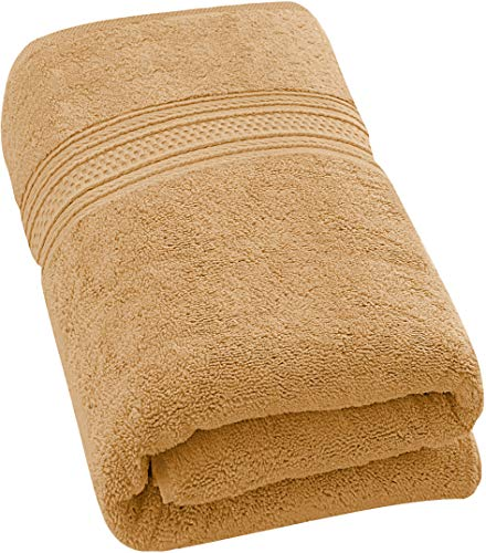 Utopia Towels 700 GSM Premium Cotton Bath Towel (Beige, 27 x 54 Inches) Luxury Bath Sheet Perfect for Home, Bathrooms, Pool and Gym Ring-Spun Cotton