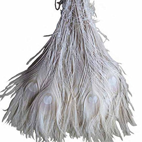 ADAMAI Natural Dyed Peacock Feather Eyes Tail Decoration 30-35cm Pack of 10 - Peacock Feather Centerpieces
