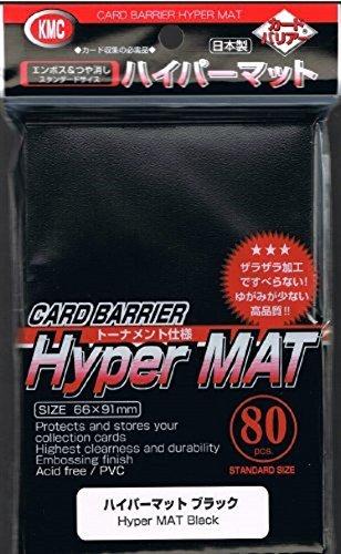 2X 80ct Packs KMC Hyper Matte Black Sleeves Fits Standard Size MTG, Magic, Pokemon etc... (1 Pack)