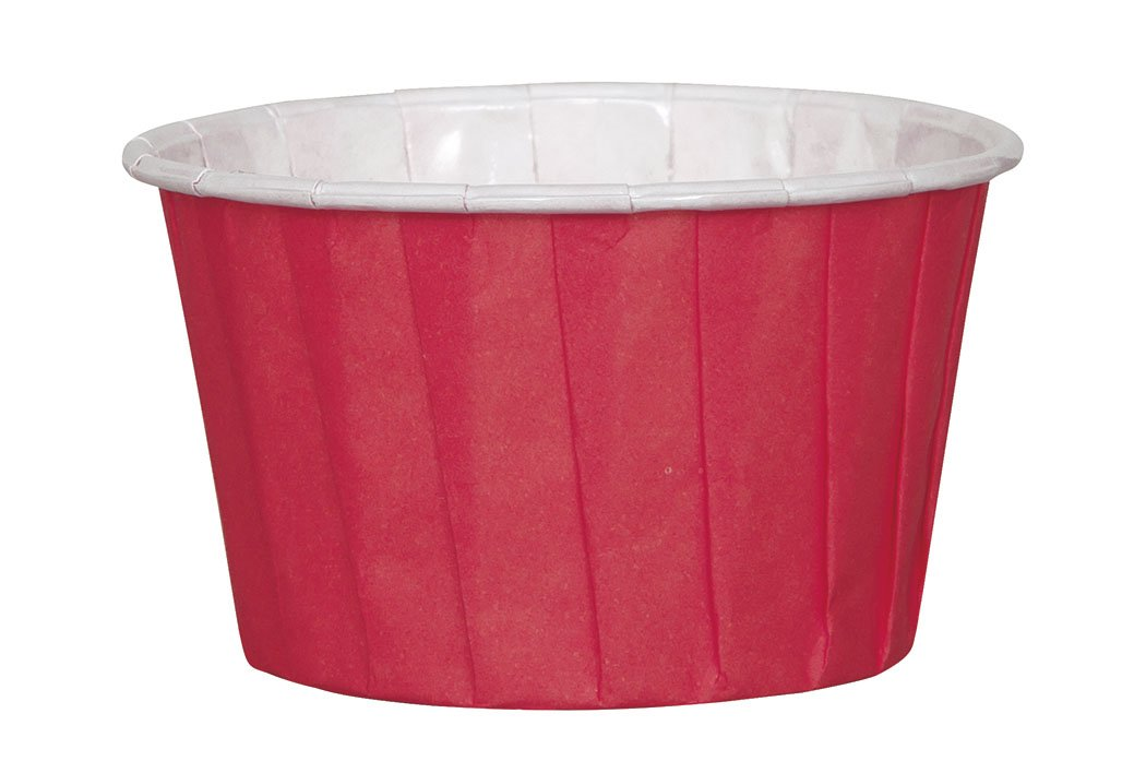 16ct Unique 39030 Red Paper Candy and Condiment Cups