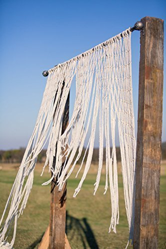 Outdoor Ceremony Yarn Wedding Garland Handcrafted Macrame Hanging Arbor Decoration (Phoenix Outdoor Store)