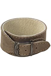 "NOVICA Men's Leather Wristband Bracelet with Brass Buckle, 7.5"", 'Rugged Honey'"