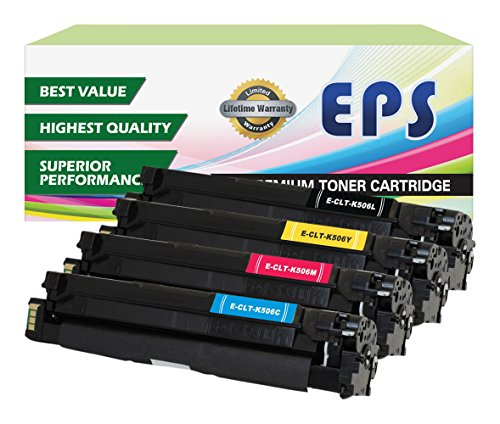 EPS Compatible Replacement for Samsung CLP-680ND Color Set (CLT-506L) Black, Cyan, Magenta, Yellow