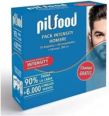 PILFOOD Pack Intensity Hombre 1 Mes(15 ampollas+60 comprimidos+Champú 200ml regalo)