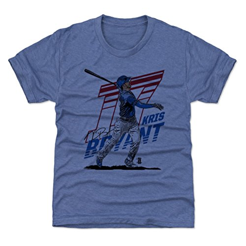 500 LEVEL Chicago Cubs Youth Shirt - Kids Large (10-12Y) Tri Royal - Kris Bryant Tech B