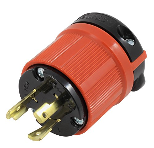 AC WORKS [ASL620P] NEMA L6-20P 20Amp 250Volt 3 Prong Locking Male Plug With UL, C-UL Approval by AC WORKS