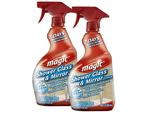Magic Shower Glass & Mirror Cleaner Trigger, 28 fl oz (Pack of - The Magic Glasses