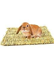 Bwogue Tappetino in erba naturale per criceti, conigli, ricci, cavia, coniglietto e altri piccoli animali (2 pezzi)