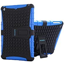 TKOOFN Hybrid Colors Combo Cases 2 in 1 Dual Defender Snap-on Back Case with Built-in Kickstand for Apple iPad Mini 2 / Mini 3 [with Retina Display], Blue - PT3202