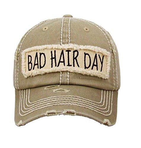 AH Adjustable Bad Hair Day Distressed Look Western Cowgirl Hat Cap JP (Khaki Tan) Western Hat Accessories