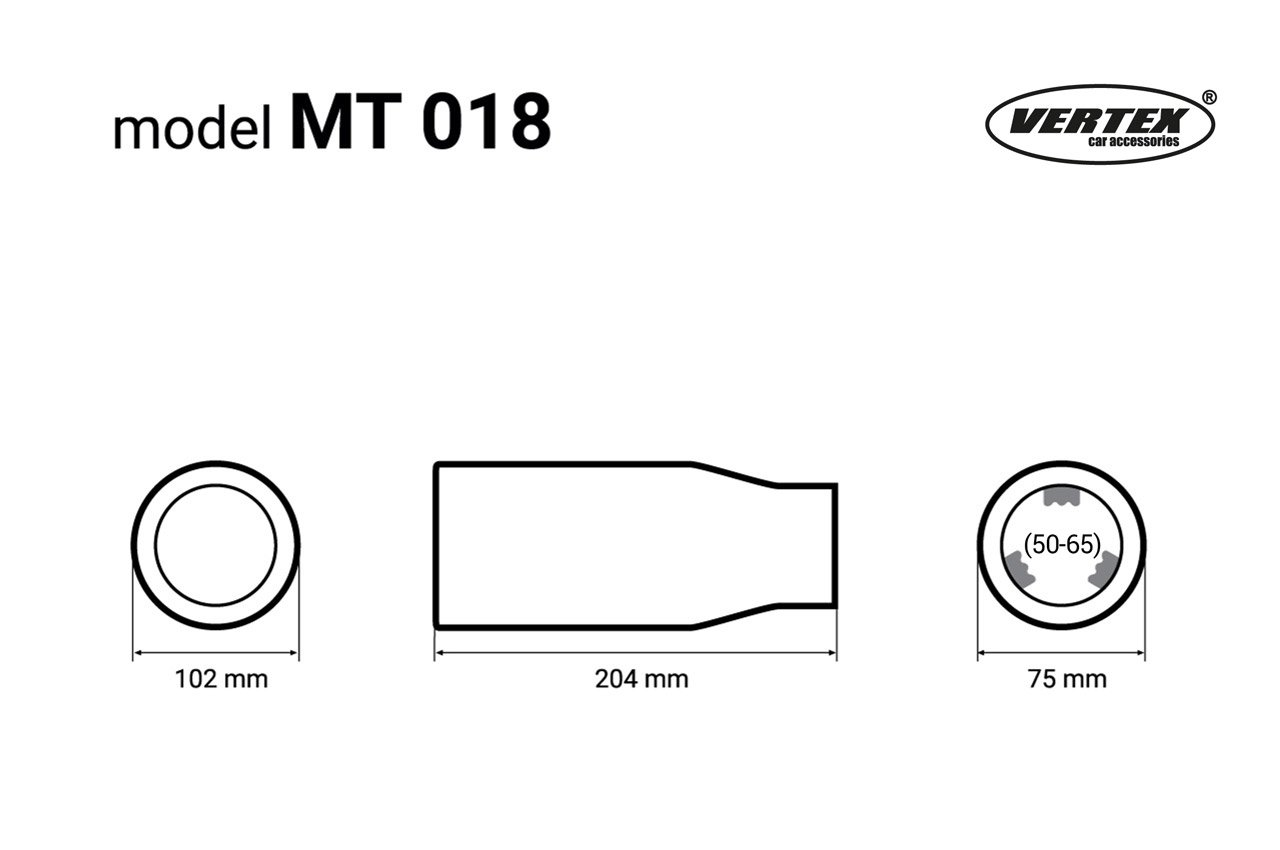 KMH-Tuning MT018 Auspuffblende Endrohr Chrom