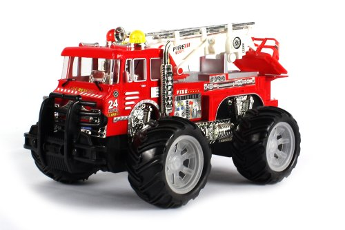 24 Hour Fire Dept. Electric RC Truck 1:16 Scale Rescue Zero