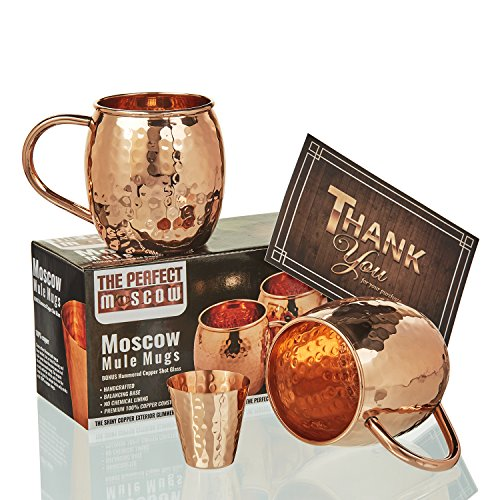 Moscow Mule Copper Mugs Hammered product image