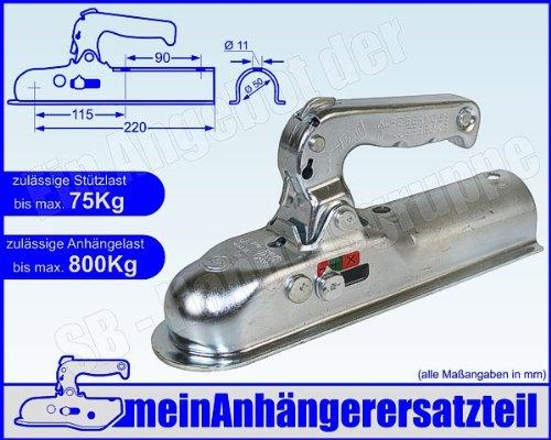 ALBE Berndes Zugkugelkupplung Kugelkupplung Zugrohr rund 50mm EM 80 R E 05150
