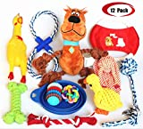 Jomilly Dog Toys Full Set 12 Pack, Puppy Plush Toys Ball Rope Chew Pet Teething Toy for Small&Medium Dogs