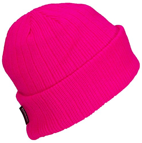 Best Winter Hats 3M 40 Gram Thinsulate Insulated Cuffed Knit Beanie (One Size) - Hot - Knit Beanie Pink
