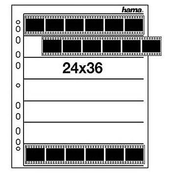 Hama Negativarchivierungsh/üllen Polypropylen, f/ür je 7 Kleinbild-Streifen /à 6 Bilder, 25 St.