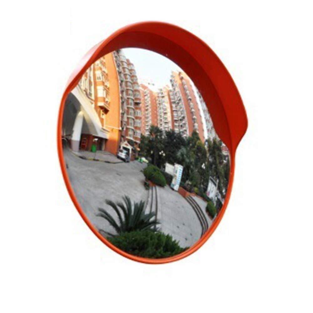 Geng カーブミラー 安全ミラー、丸型凸オレンジ盗難防止ミラー、広角安全カーブ屋内スーパーマーケット交通ミラー、監視、駐車場、店舗 60cm  B07TXJBC2Y