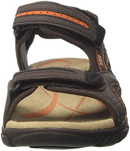 Uomini Geox Uomo Sandali Sandalo D Strada Marrone (ebano / Dk Arancione)