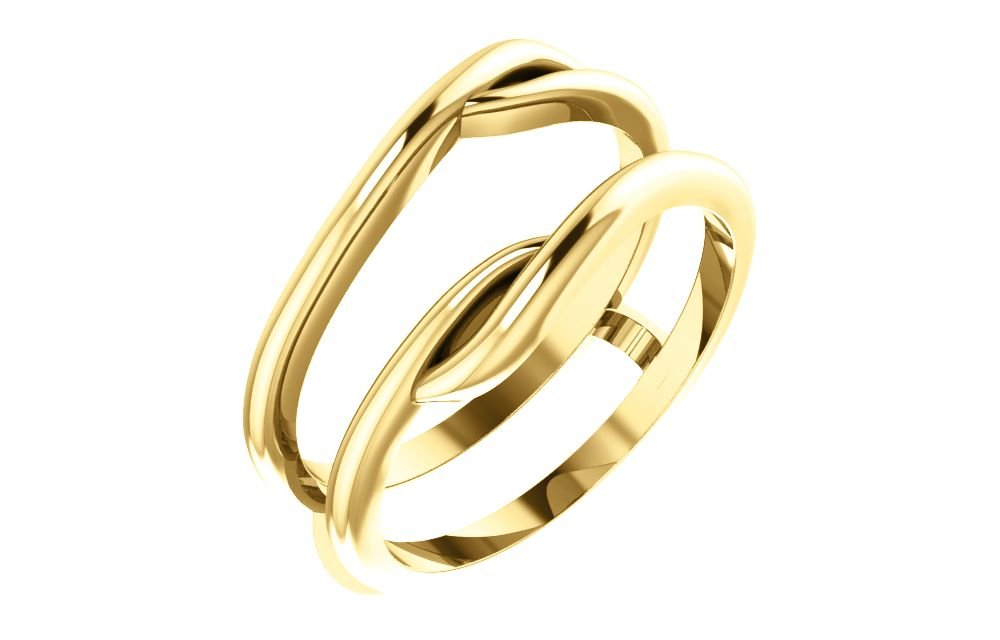 FB Jewels 14K Yellow Gold Ring Guard Size 7 by FB Jewels