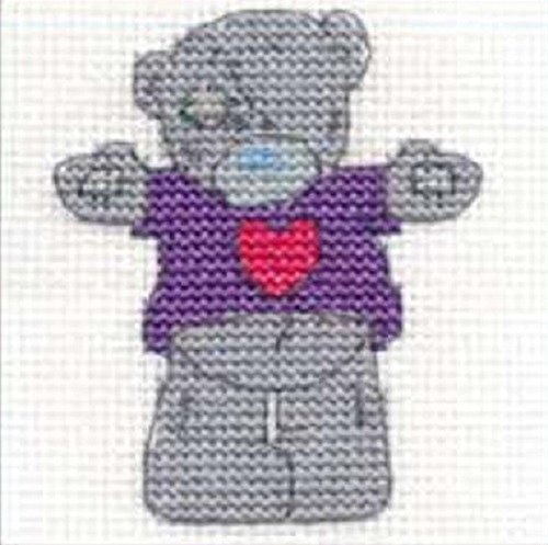 DMC Cross Stitch Kit - Mini Tatty Teddy - Hug Me