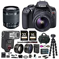 Canon T6 EOS Rebel DSLR Camera w/ EF-S 18-55mm IS II Lens & Zoom TTL Flash Gun Bundle At A Glance Review Image