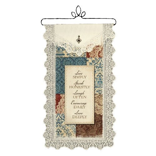 Heritage Lace Live Simply 12-Inch by 20-Inch Ecru Wall Hanging