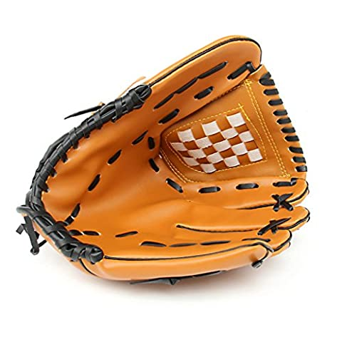 YISUMEI Baseball Infielders Playmaker Glove For Youth Adult Yellow 12.5