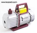 Kozyvacu, 5.0CFM 2-Stage Rotary Vane Economy Vacuum Pump (5.0CFM, 0.3Pa, 1/2HP) Air Conditioner Refrigerant Changing, HVAC/AUTO AC tool R134a R410a, Wine Degassing, Vacuum Pump for Milking