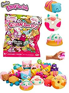 Shopkins Squish-Dee-Lish - ANIMALS Series 1 Mystery Pack - Enjoy Hours of Squeezing Fun!