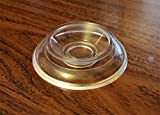 Clear Upright Piano Caster Cups Pads - Set of 4