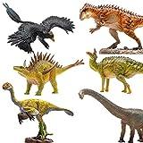Lana Toys PNSO 6Pcs Small Dinosaur Figure Yangchuanosaurus Mamenchisaurus Microraptor Gigantoraptor Huayangosaurus Tsintaosaurus PVC Model Toy Dinos Collector Gift Adult