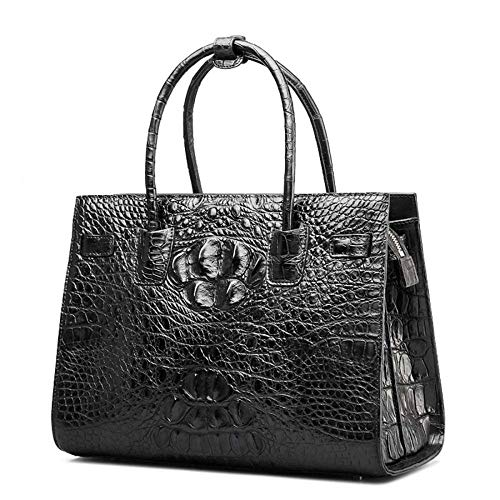 Crocodile à à Sac Main Cuir clocharde Le Main Dames de Femme WWAVE black D Sacs pour gqp5vw