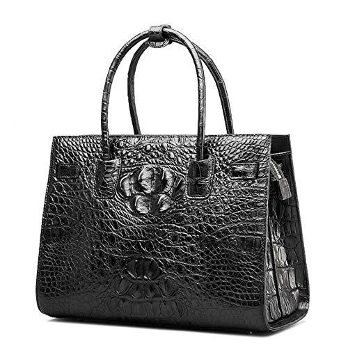 D Dames black WWAVE Le Sacs Cuir pour Sac Crocodile Main clocharde Main à à de Femme 11wA6q