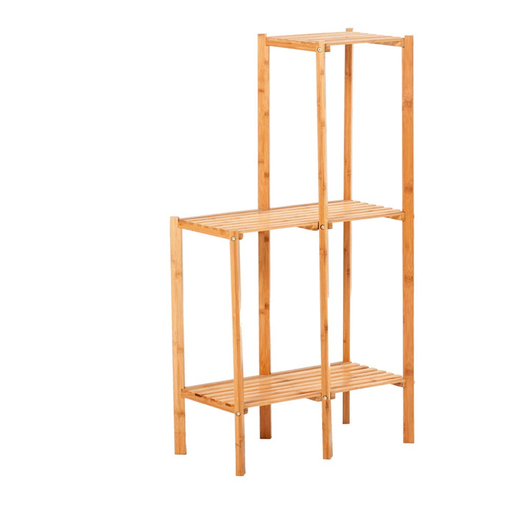 CXQ Modern Home Bamboo Flower Stand Tipo di Pavimento per Interni a Tre Strati Combinazione Flower Stand Balcone Impianto Flower Pot Rack