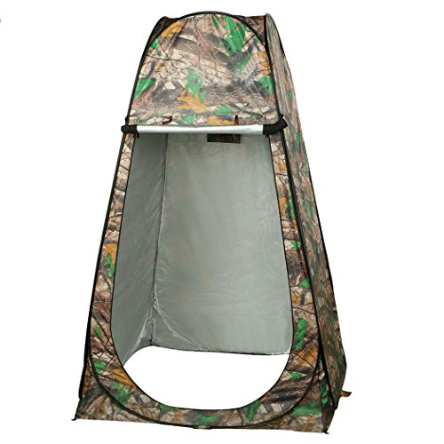F&D Shower Tent Waterproof Portable Set Up Toilet Changing Room Camping Beach Dresses Tent with Carry Bag (Camouflage) For Sale