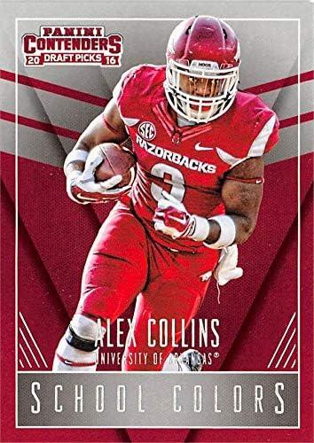 Alex Collins football card (Arkansas Razorbacks) 2016 Panini Draft ...