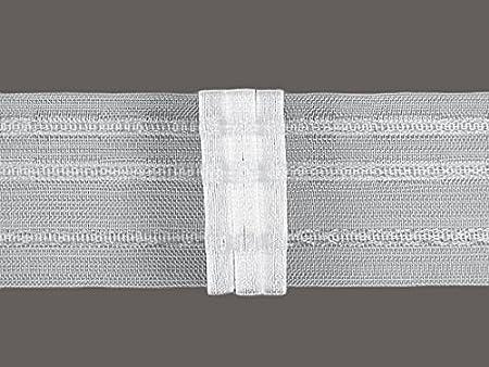 Tape Pleat 5 cm larghezza, volltransparent, Breite: 5.0 cm, Zugabe 1:2 Zubehör