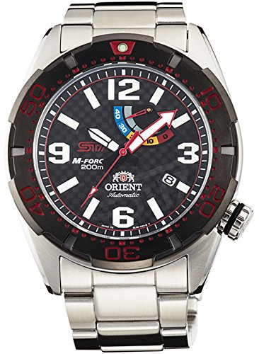 ORIENT Men's Watch M-FORCE Em Force 2015 Nurburgring 24-hour endurance race Victory commemoration model Mechanical automatic (with manual winding) Black WV0211EL
