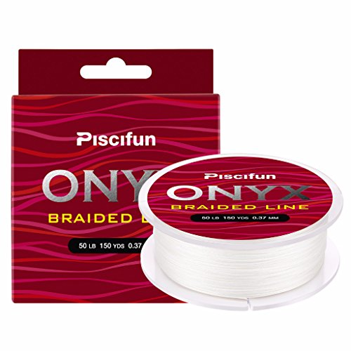 Piscifun Onyx Braided Fishing Line Advanced Superline Braid Lines 150Yd 10lb White ()