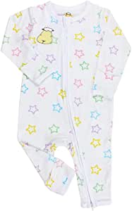 Baa Baa Sheepz Romper with Zip, White, 6-12M, 1 1 count