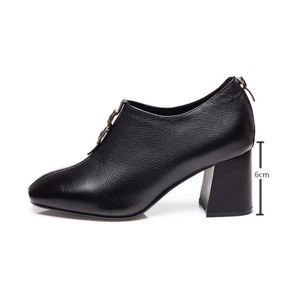 YIWU Deep Mouth Schuhe Weibliche Herbst Damenschuhe Square  Head High Heels (Größe   Square EU37 UK4.5-5 CN37) 1a8fb5