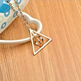 Jewelry tycoon®Deathly Hallows Necklace, H P Inspired, H p Necklace, Large Deathly Hallows, Fandom Necklace