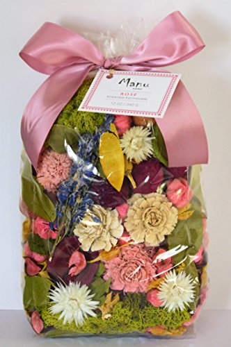 Manu Home ROSE Potpourri ~ Fill the air in your space with our Fresh Rose Scent~ Large Beautiful Rose Potpourri ~ Over 12oz~