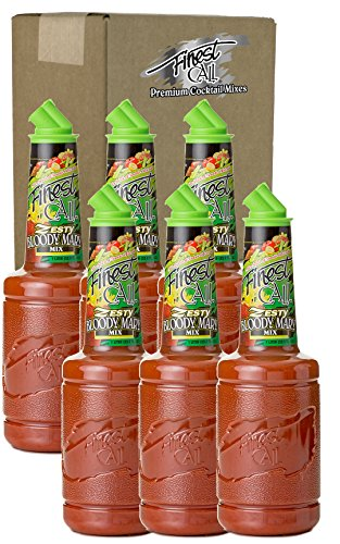 [Finest Call Premium Zesty Bloody Mary Drink Mix, 1 Liter Bottle (33.8 Fl Oz), Pack of 6] (Yield Sign Halloween Costume)